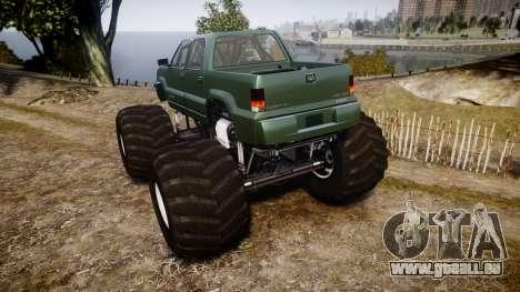 Albany Cavalcade FXT Monster Truck pour GTA 4 Vue arrière de la gauche