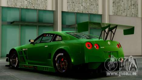 Nissan GT-R (R35) GT3 2012 PJ1 pour GTA San Andreas sur la vue arrière gauche