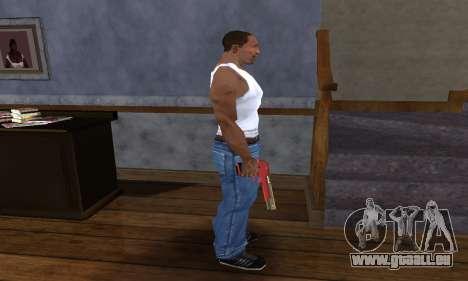 Black and Red Deagle für GTA San Andreas dritten Screenshot