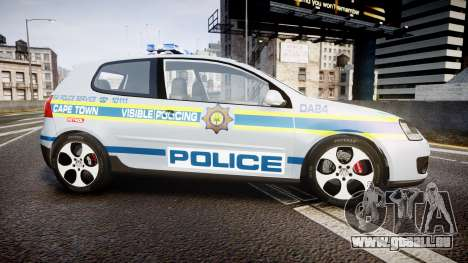 Volkswagen Golf South African Police [ELS] pour GTA 4 est une gauche