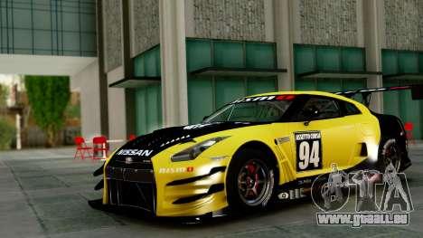 Nissan GT-R (R35) GT3 2012 PJ1 pour GTA San Andreas vue arrière