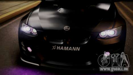 BMW M3 E92 Hamman pour GTA San Andreas vue de dessus