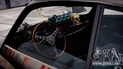 Volkswagen Karmann Ghia 67 (Slammed Rat) pour GTA 4 Vue arrière
