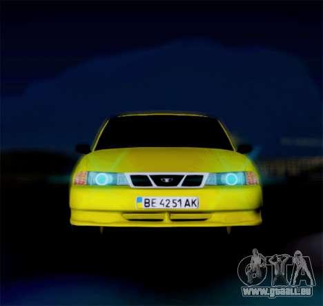 Daewoo Nexia 2006 pour GTA San Andreas laissé vue