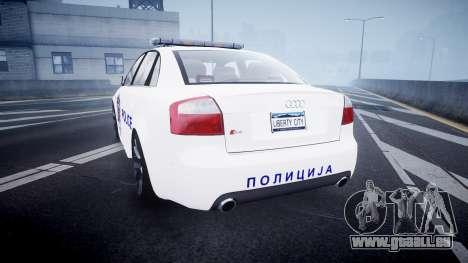 Audi S4 Serbian Police [ELS] für GTA 4 hinten links Ansicht