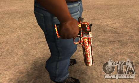 Red Splash Deagle pour GTA San Andreas