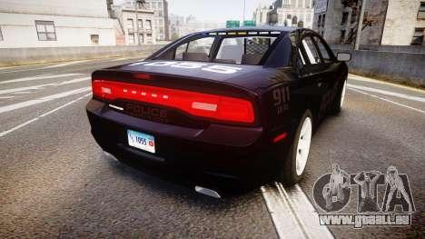 Dodge Charger LC Police Stealth [ELS] pour GTA 4 Vue arrière de la gauche