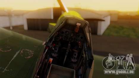 Messerschmitt Bf-109 E3 für GTA San Andreas rechten Ansicht