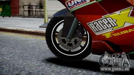 Bike Bati 2 HD Skin 1 pour GTA 4 Vue arrière de la gauche