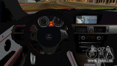 BMW M3 E92 Hamman für GTA San Andreas Rückansicht