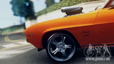 Chevrolet Camaro SS Dragster für GTA San Andreas rechten Ansicht