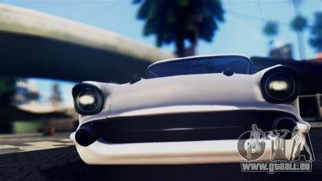 Chevrolet Bel Air 1957 FF Style pour GTA San Andreas sur la vue arrière gauche