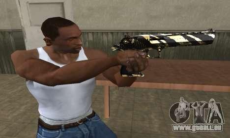 Gold Lines Deagle pour GTA San Andreas deuxième écran