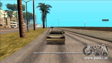 COP Plus pour GTA San Andreas deuxième écran