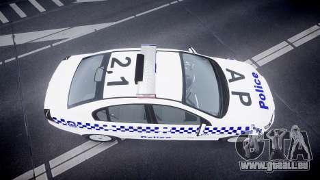 Holden Commodore Omega NSWPF [ELS] für GTA 4 rechte Ansicht