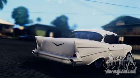 Chevrolet Bel Air 1957 FF Style pour GTA San Andreas laissé vue