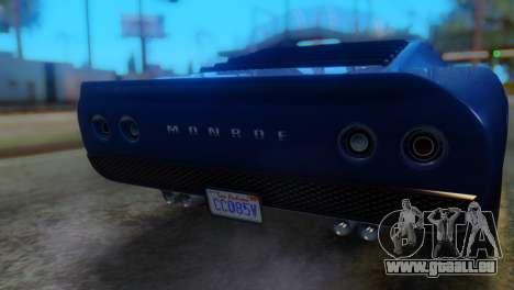 GTA 5 Pegassi Monroe IVF pour GTA San Andreas vue arrière