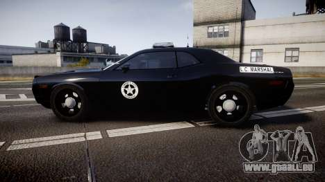 Dodge Challenger Marshal Police [ELS] pour GTA 4 est une gauche