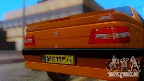 Peugeot 405 Slx Taxi pour GTA San Andreas vue arrière