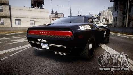 Dodge Challenger Marshal Police [ELS] pour GTA 4 Vue arrière de la gauche