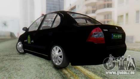 SAIPA Tiba Police v1 pour GTA San Andreas laissé vue