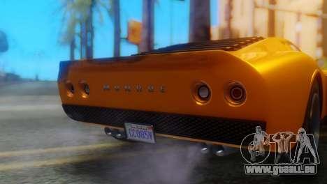 GTA 5 Pegassi Monroe pour GTA San Andreas vue arrière
