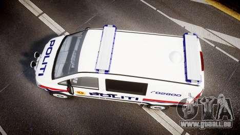 Mercedes-Benz Vito 2014 Norwegian Police [ELS] für GTA 4 rechte Ansicht