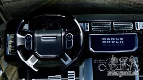 Range Rover Vogue Lumma Stratech pour GTA San Andreas vue arrière