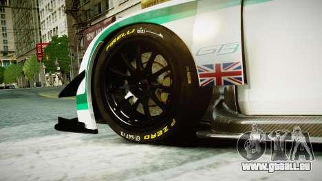 Bentley Continental GT3 2014 für GTA 4 hinten links Ansicht