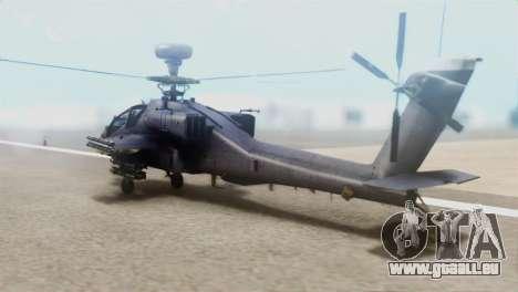 AH-64D Apache Longbow pour GTA San Andreas laissé vue
