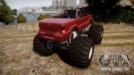 Albany Cavalcade FXT Cabrio Monster Truck pour GTA 4 Vue arrière de la gauche
