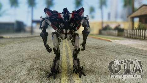 Starscream Skin from Transformers v1 pour GTA San Andreas deuxième écran