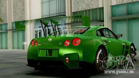 Nissan GT-R (R35) GT3 2012 PJ1 pour GTA San Andreas laissé vue