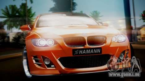 BMW M3 E92 Hamman für GTA San Andreas zurück linke Ansicht