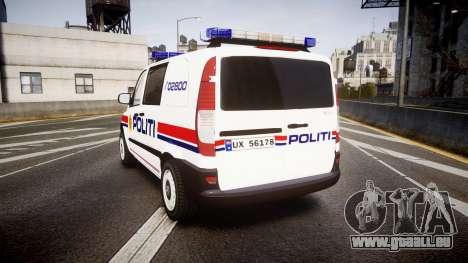 Mercedes-Benz Vito 2014 Norwegian Police [ELS] für GTA 4 hinten links Ansicht