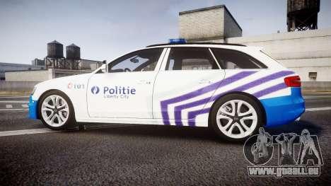 Audi S4 Avant Belgian Police [ELS] für GTA 4 linke Ansicht