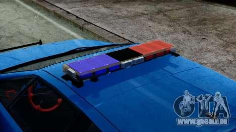 Lotus Esprit S4 V8 1998 Police Edition pour GTA San Andreas sur la vue arrière gauche