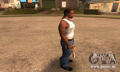 Red Splash Deagle pour GTA San Andreas troisième écran