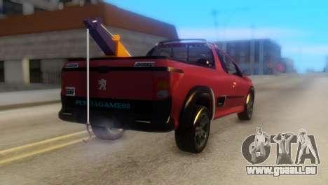 Peugeot 206 TowTruck pour GTA San Andreas laissé vue