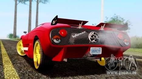 Pegassi Infernus Cento Miglia pour GTA San Andreas laissé vue