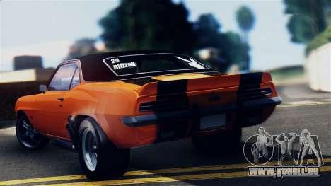 Chevrolet Camaro SS Dragster pour GTA San Andreas laissé vue
