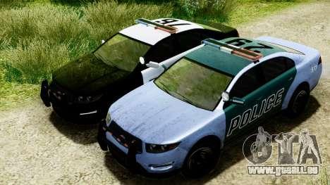 GTA 5 Vapid Police Interceptor v2 IVF pour GTA San Andreas vue intérieure