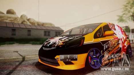 Honda Fit Street Modify Inori Yuzuriha Itasha pour GTA San Andreas