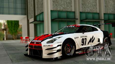 Nissan GT-R (R35) GT3 2012 PJ1 pour GTA San Andreas vue de dessus