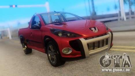 Peugeot 206 TowTruck pour GTA San Andreas