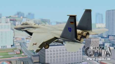 F-15C Eagle Luftwaffe JG 73 pour GTA San Andreas laissé vue