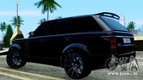 Range Rover Vogue Lumma Stratech für GTA San Andreas zurück linke Ansicht