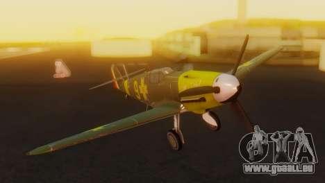 Messerschmitt Bf-109 E3 pour GTA San Andreas vue arrière