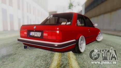 BMW M3 E30 B. O. de la Construction pour GTA San Andreas laissé vue