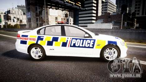 Holden VE Commodore SS Police HWP [ELS] für GTA 4 linke Ansicht